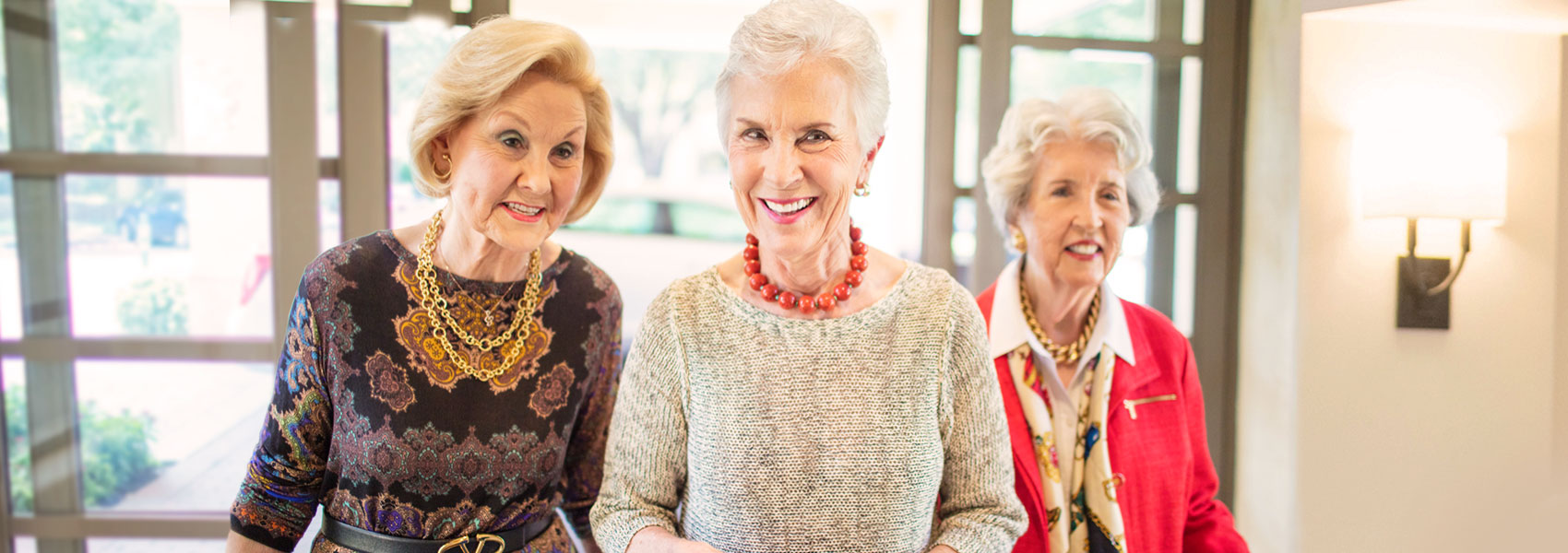 Three Senior Women Posing for Camera